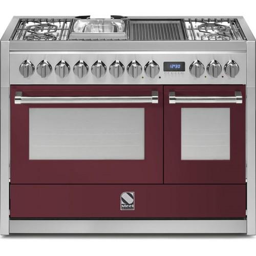 Piano de cuisson steel genesi 120 electrique gaz four vapeur d charby poel - Piano cuisine electrique ...