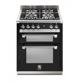 Piano de cuisson Steel Ascot 70 cm  2 fours et 4 zones induction