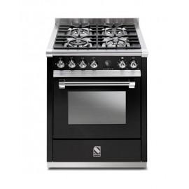 Piano de cuisson Steel Ascot 70 cm  four vapeur et 4 zones induction