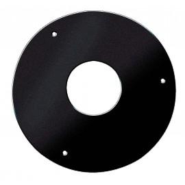 Plaque de propreté ronde noir mat