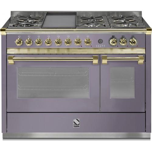 Piano de cuisson steel ascot 120 electrique gaz four vapeur dcharby - Piano de cuisson tout gaz ...