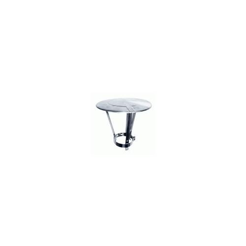 Chapeau de pluie réglable inox 130 à 180 mm