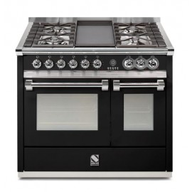 Piano de cuisson Steel Ascot 100 cm  2 fours dont un vapeur, 6 feux gaz