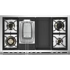 Piano de cuisson STEEL ASCOT 120 Electrique gaz, four vapeur