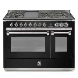 Piano de cuisson Steel Ascot 120 cm   2 fours, 6 feux gaz et un méga wok