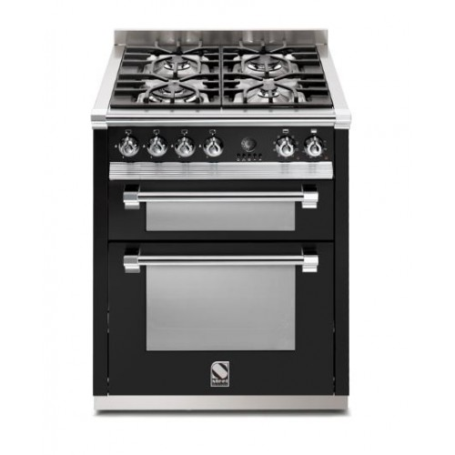 Piano de cuisson Steel Ascot 70 cm  2 fours et 4 zones induction