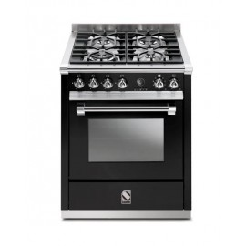Piano de cuisson Steel Ascot 70 cm  four vapeur et 4 zones induction