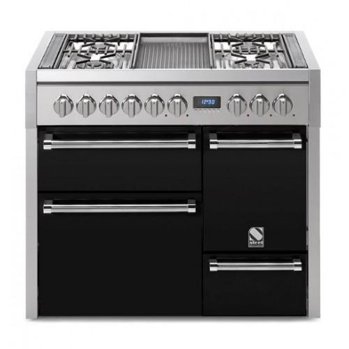 Piano de cuisson Steel Genesi 100 cm 3 fours portes pleines et 6 feux gaz dont 2 woks