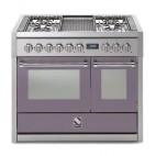 Piano de cuisson Steel Genesi 100 cm 2 fours, 4 feux gaz et un méga wok