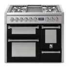 Piano de cuisson Steel Genesi 100 cm 3 fours  , 4 feux gaz et un méga wok