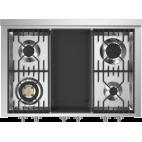 Piano de cuisson STEEL GENESI 100 Electrique-gaz, triple four, portes pleines