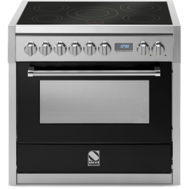 Piano de cuisson Steel Genesi 90 cm four électrique, 6 zones induction