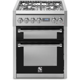 Piano de cuisson Steel Genesi 70 cm 2 fours, 4 zones induction