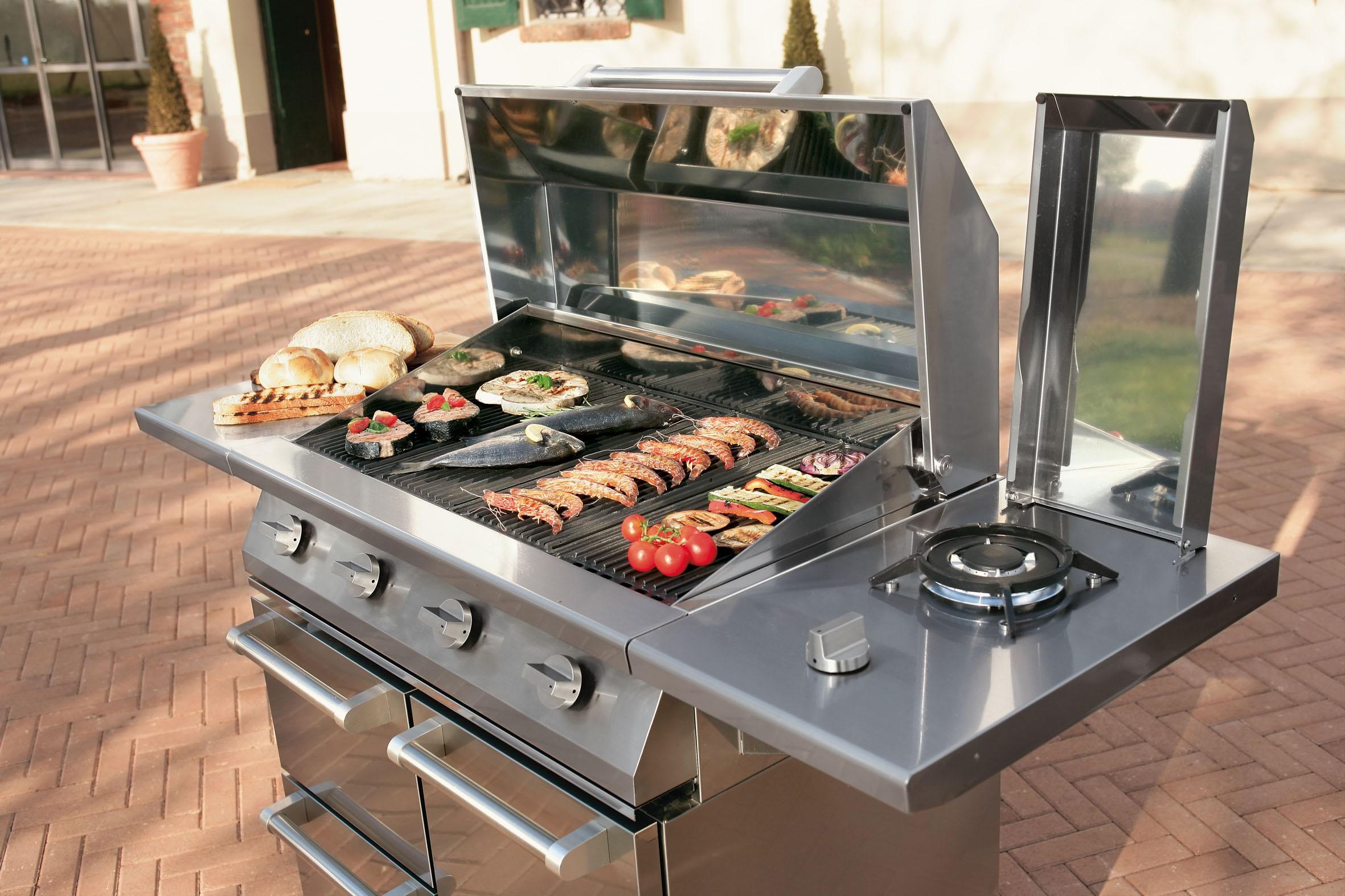 Barbecue gaz Steel...