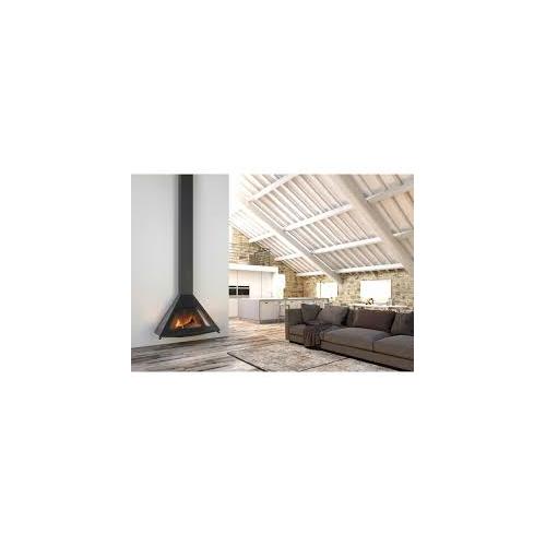 Po le bois suspendu design rocal d 10 x1265 dcharby - Poele a bois design suspendu ...