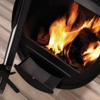 Poêle à bois Rocal suspendu Design Oval