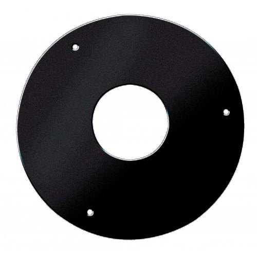 Plaque de propreté ronde noir mat Ø 80-150 mm
