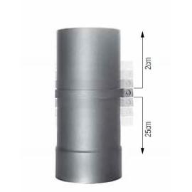 Tuyau de poêle télescopique émaillé Ø 120-200 mm