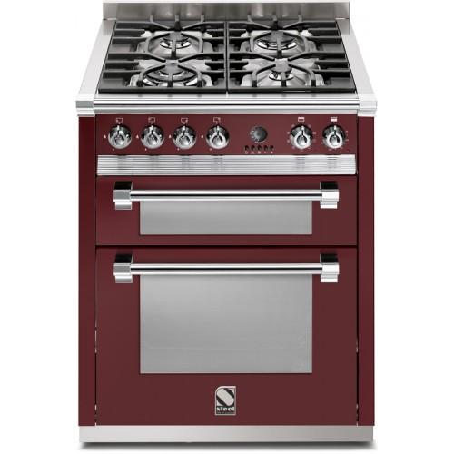 Piano de cuisson Steel Ascot 70 cm  2 fours et 4 feux gaz dont un wok