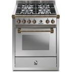 Piano de cuisson STEEL Ascot 70, Four vapeur, 4 Feux gaz