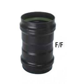 Raccord femelle/femelle émaillé pellet Ø 80-100 mm