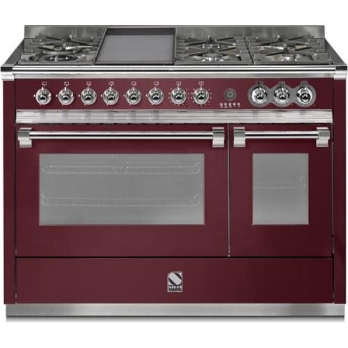 Piano de cuisson steel ascot 120 lectrique gaz four vapeur dcharby - Piano cuisine gaz ...
